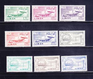 Lebanon C254-C262 Set MHR Various (A)