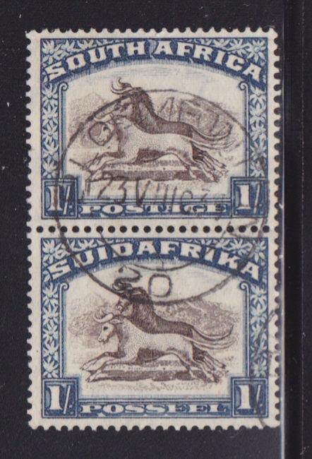 South Africa 43 VF-used pair nice color scv $ 58 ! see pic !