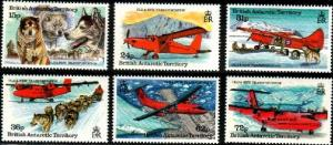 Old & New Transportation, Br. Antarctic Ter. SC#218-223 MNH set
