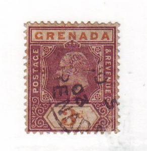 Grenada Sc52 1902 3 d Edward VII stamp used