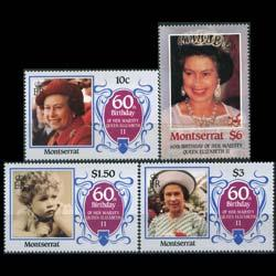 MONTSERRAT 1986 - Scott# 600-3 Queen Birthday Set of 4 NH