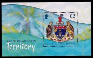 British Indian Ocean Territory Sc# 452 MNH Coat of Arms (S/S)