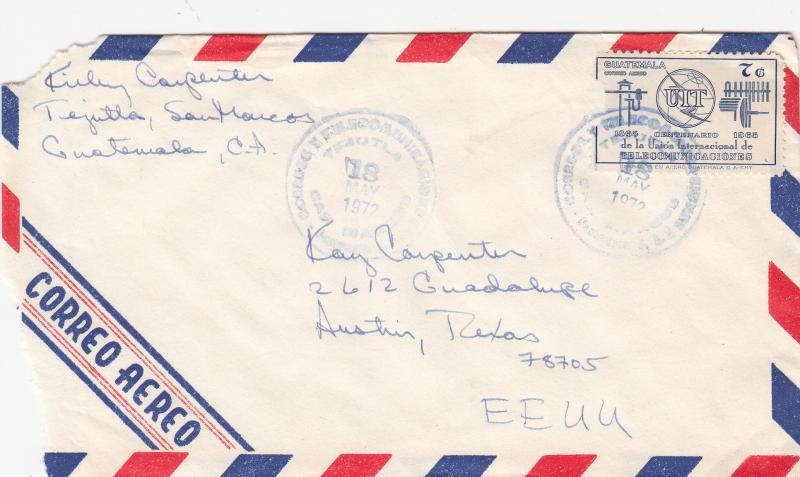 Guatemala C425 Used on Airmail Cover