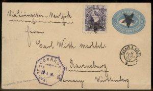 Guatemala 1892 Calias Ravensburg Wuerttemberg Cover 92788