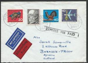 GERMANY 1965 EXPRESS FEE PAID cover to Scotland............................58010