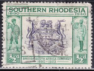 Southern Rhodesia 56 USED 1940 Coat of Arms