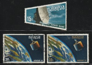 MALAYSIA 1970 Satelite Earth Station 3V USED SG#61-63