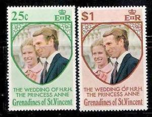Grenadinise of St. Vincent 1973 Famous People, Royal Wedding, Prince & Prince...