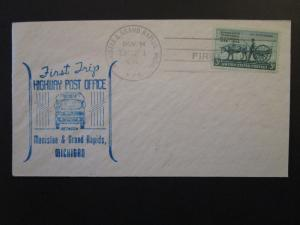 US 1949 Manistee / Grand Rapids First HPO Cover / Trip 1 / Light Address - Z4424