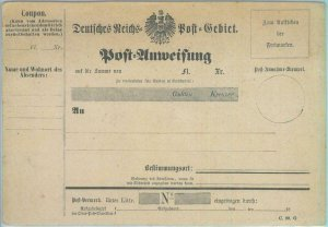 89301 - GERMANY  - Postal History - STATIONERY Formular CARD Money  Order