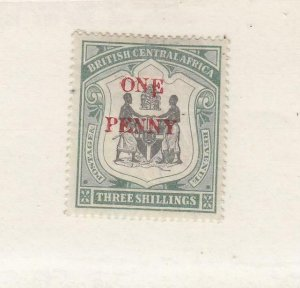 BR. CENTRAL AFRICA (MK6535) # 57 VF-MH  1897 COAT OF ARMS /SURCHARGED IN RED