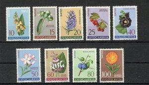 YUGOSLAVIA-MNH SET-FLORA-FLOWERS-1961.