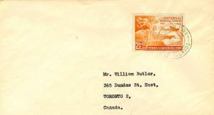 Turks & Caicos Is. 2 1/2d Universal Postal Union 1953 Grand Turk, Turks Islan...