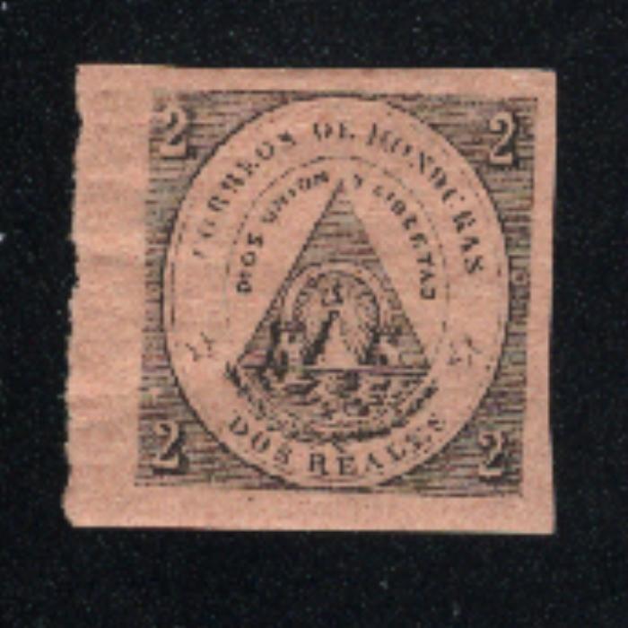 Honduras #2    Mint VF OG  1865 PD