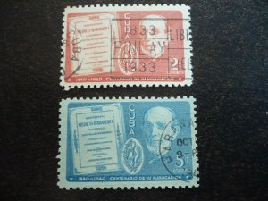 Stamps - Cuba - Scott#364-365 - Used Set of 2 Stamps