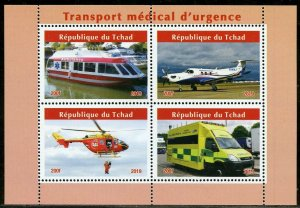CHAD  2019 MEDICAL EMERGENCY SERVICE SET OF TWO  SHEETS  MINT NEVER HINGED
