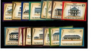 Norfolk Island Sc 156-71 1973 Houses long stamp set mint NH