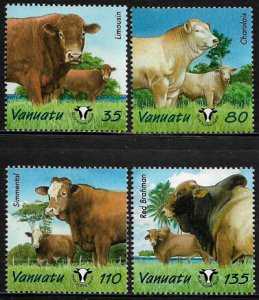 Vanuatu #820-3 MNH Set - Year of Cattle - Cows