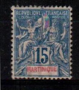 Martinique Scott 40 Mint hinged (Catalog Value $42.50)