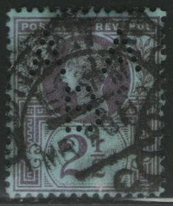 GREAT BRITAIN Used Scott # 114 Victoria - Perfin A A B (1 Stamp) -8