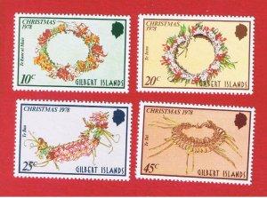 Gilbert Islands #317-320  MNH OG  Christmas  Free S/H