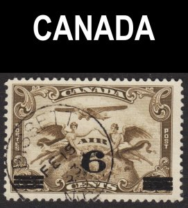 Canada Scott C3 F+ used. Splendid BISSETT MANITOBA SON cds. Scarce.