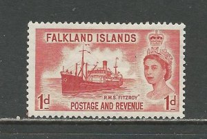 Falkland Islands Scott catalog # 123 Unused HR See Desc