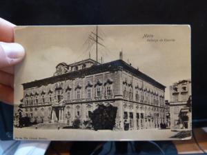 Malta Auburge de Castille PPC unused (10beu)