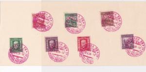 Czechoslovakia 1928  Prague Souvenir Stamps Cancels Card Ref 23852