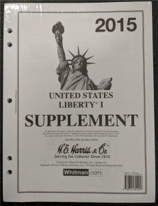 Harris 2015 US Stamp Collecting Liberty Pages Supplement Original packaging & Se