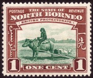 North Borneo 1939 1c Green & Red-Brown SG303 MH