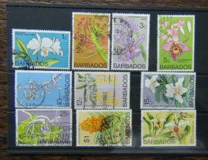 Barbados 1974 Orchids values to $2.50 Used