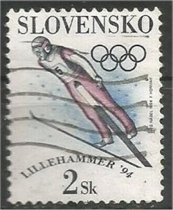 SLOVAKIA, 1994, used 2k, Winter Olympics Scott 176