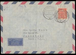 1953 GERMANY SINGLE BUILDING TO UNITED STATES