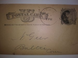 SCOTT #UX7 USED POST CARD NOTING BUT AMAZING POSTAL HISTORY!!