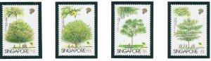 Singapore 764-67 MNH 1996 Native Trees (ap6905)