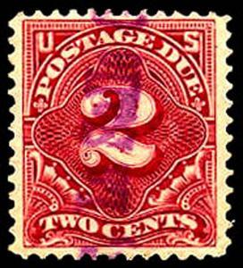 U.S. POSTAGE DUE J39  Used (ID # 38937)