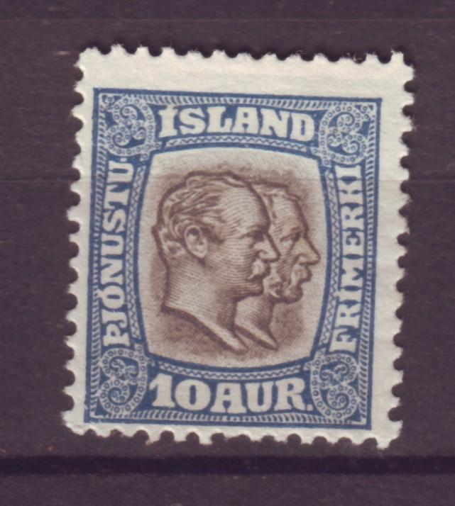 J18059 JLstamps 1907 iceland mh #o34 official