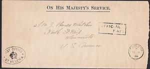 ST HELENA 1926 OHMS cover OFFICIAL PAID to USA..............................7445