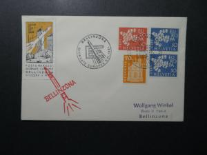 Switzerland 1961 BELLINZONA Rocket Cover - Z12565