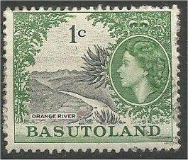 BASUTOLAND, 1962, used 1c, Orange River.  Scott 73
