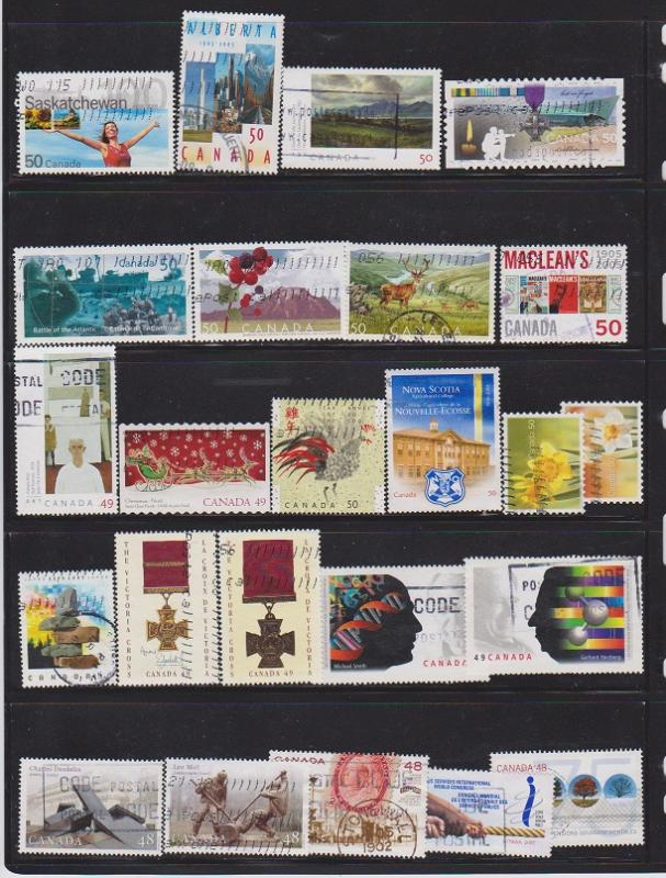 LOT OF DIFFERENT STAMPS OF CANADA USED(24) LOT#318