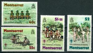 Montserrat SC#397-400 Boy Scouts camping set MH