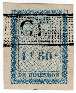 (I.B) France Colonial Revenue : Guyana Dimension 1.50Fr