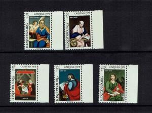 Luxembourg: 1978 National Welfare Fund, Glass Paintings, MNH set