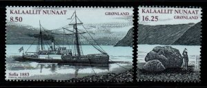 Greenland Sc 527-8 2008 Nordenskold Explorer stamp set mint NH