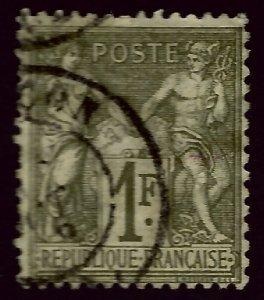 France SC#76 Used Fine hr/crease...Grab a Bargain!!