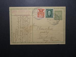 Czechoslovakia 1928 Uprated Postal Card / Light Edge Damage - Z12237
