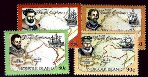 Norfolk Island SC#558-560A Mint...Worth a close look!!!