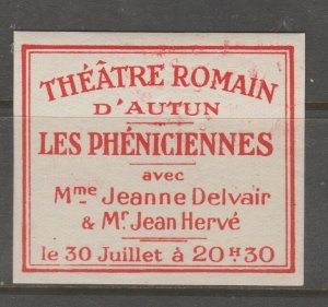 Cinderella revenue fiscal stamp 9-9-49 Theatre France
